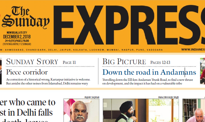 The Indian Express ePaper Download 2nd December 2018