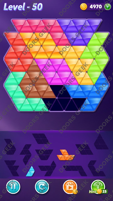 Block! Triangle Puzzle Challenger Level 50 Solution, Cheats, Walkthrough for Android, iPhone, iPad and iPod