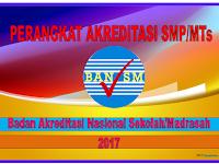 Perangkat administrasi dan instrumen Akreditasi Nasional SMP/MTs tahun 2017