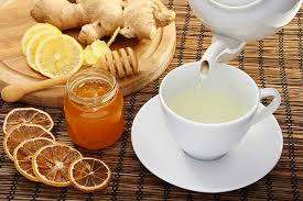 add lemon or honey or both to make better ginger drink to heal cough and influenza
