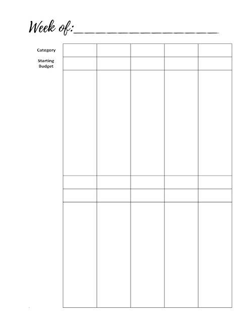 Free Printable Weekly Budget Tracker for Cashless Envelope Budget System http://www.malenahaas.com/2017/11/freebie-friday-weekly-budget-tracker.html