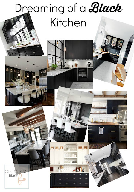 Dreaming of a BLACK kitchen :: OrganizingMadeFun.com