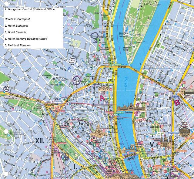 Budapeste map