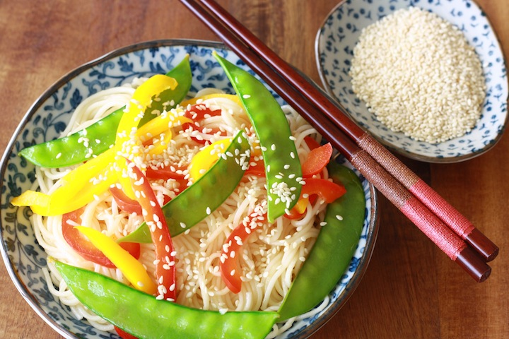A healthy, simple Sesame Noodles recipe by Season with Spice