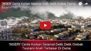 MENGERIKAN!!! Cerita Korban Selamat Detik Detik Ombak Tsunami Aceh Terbesar Di Dunia