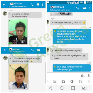 review costumer green angelica