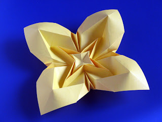 Origami Fiore Bombato 3, variante - Curved flower 3, variant by Francesco Guarnieri