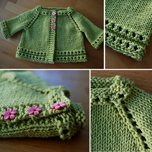 Top Down Baby Sweater - Free Pattern