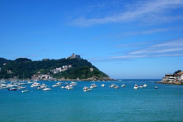 espagne pays basque san sebastian baie mont igeldo