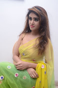 Sony Charista sizzling look in saree-thumbnail-11
