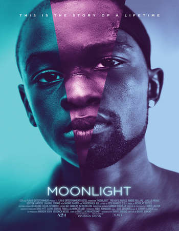 Poster Of Moonlight 2016 English 450MB BluRay 720p ESubs HEVC Free Download Watch Online downloadhub.in