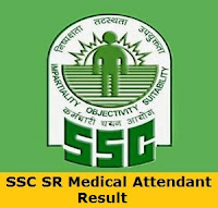 SSC SR Medical Attendant Result