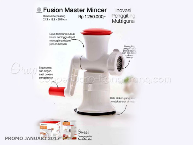 Fusion Master Mincer Promo Tupperware Januari 2017