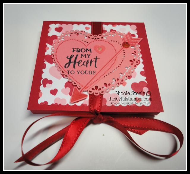 Make a foldover candy holder with Stampin' Up!'s From My Heart product suite | Nicole Steele The Joyful Stamper