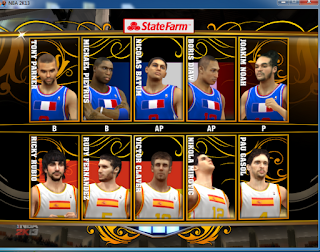 NBA 2K13 International Teams Roster