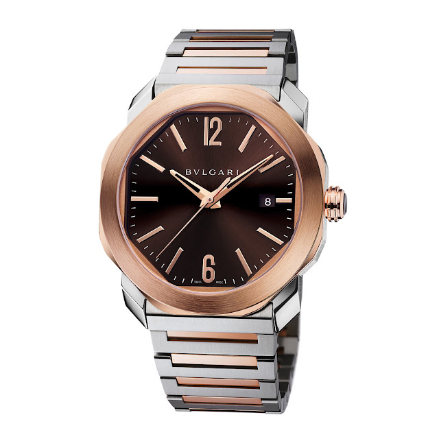Bulgari Octo Roma in steel and rose gold