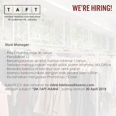 Loker Terbaru – Bursa Lowongan Kerja TAFT 2018