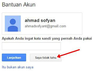lupa kata sandi (password) email