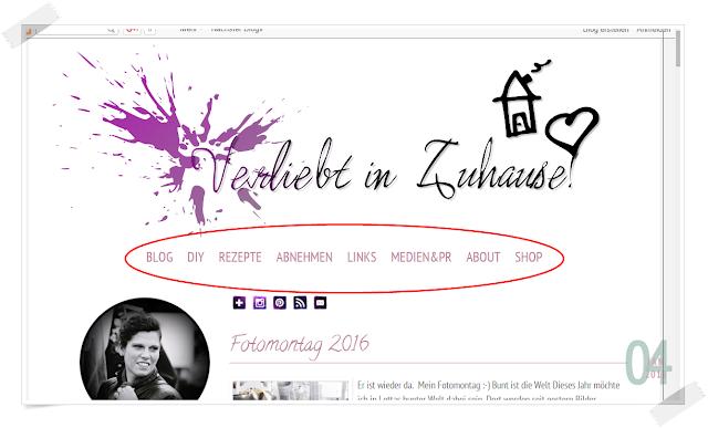 Wie erstelle ich ein Menü für meinen Blog