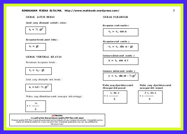 Download Kumpulan Rumus Matematika,Fisika,Kimia Lengkap