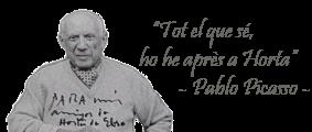 Pablo Picasso, tot el que sé ho he après a Horta