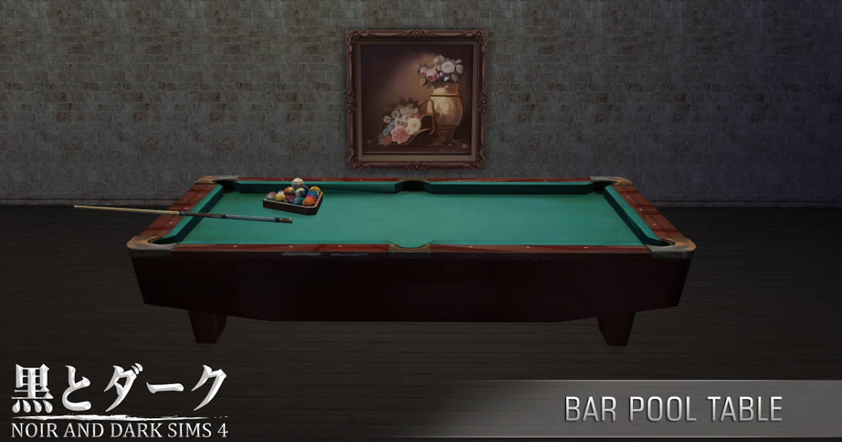 Ts4 bar pool table noir and dark sims for Pool designs sims 4