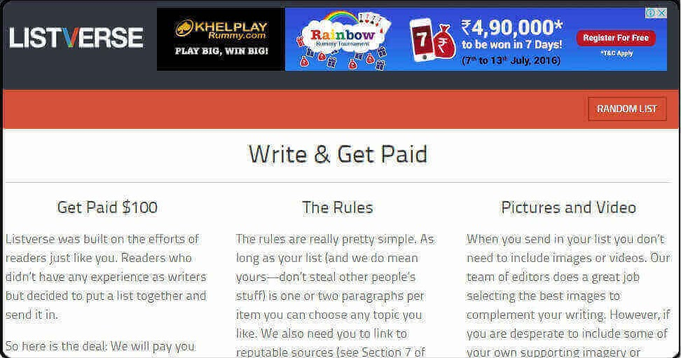 Best Sites that will Pay You to Write Articles Online
