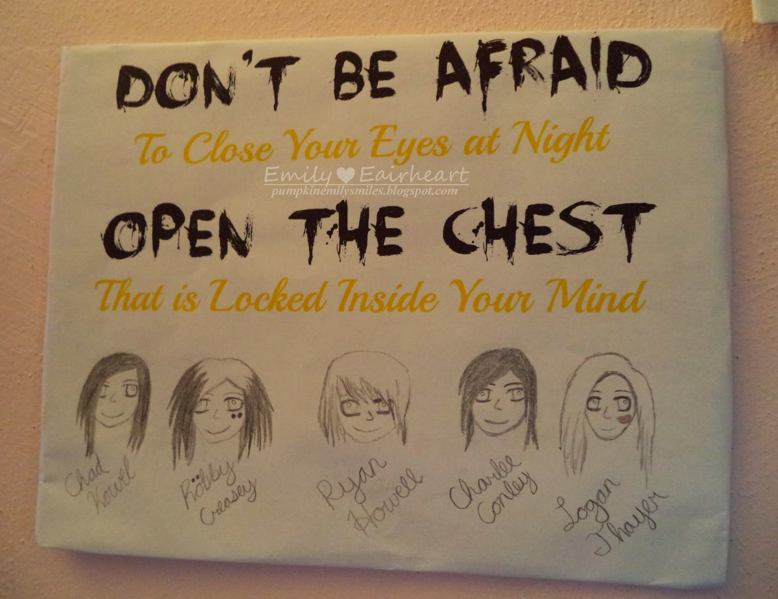 Farewell, My Love Afraid of the Dark lyric art, fan art