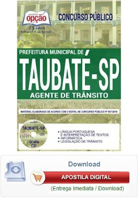 Apostila Prefeitura de Taubaté Agente de Trânsito 2018