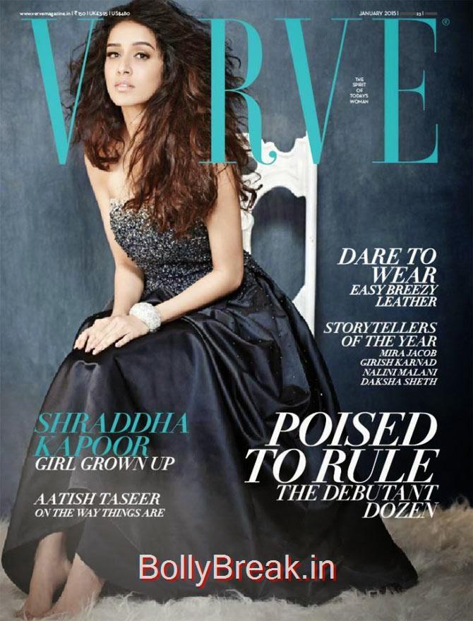 Shraddha Kapoor, January Cover Girls Hot Pics