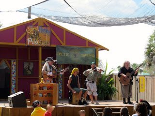 Band performers at the Florida Renaissance festival
