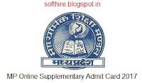 MP Online Supplementary Admit Card