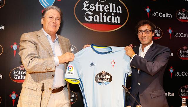 Estrella Galicia, nuevo patrocinador principal del Celta