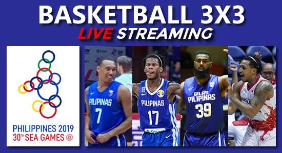 Live Philippines Men Women Basketball 3x3 2019 Sea