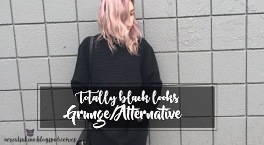 Totally black looks grunge/alternative♥