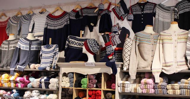 Traditional knitting Trondheim Norway
