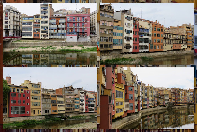 Buildings on the River Ter in Girona, Costa Brava, Spain