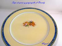 sopa de peras y gorgonzola al brandy
