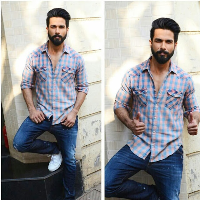 Shahid Kapoor In Casuals For Rangoon Promotions