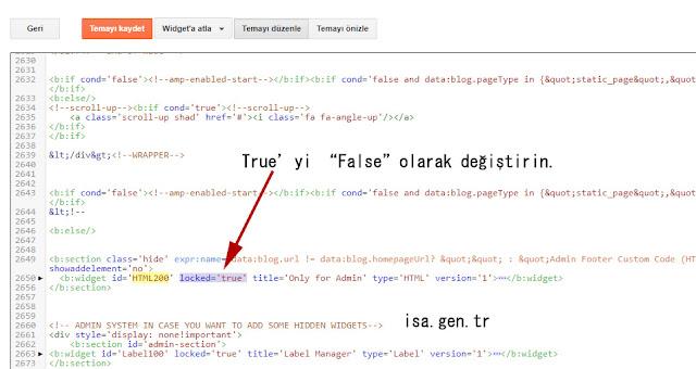 blogger silinmeyen eklenti ve kodları silelim