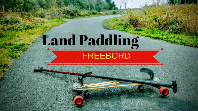 Land paddling freebord