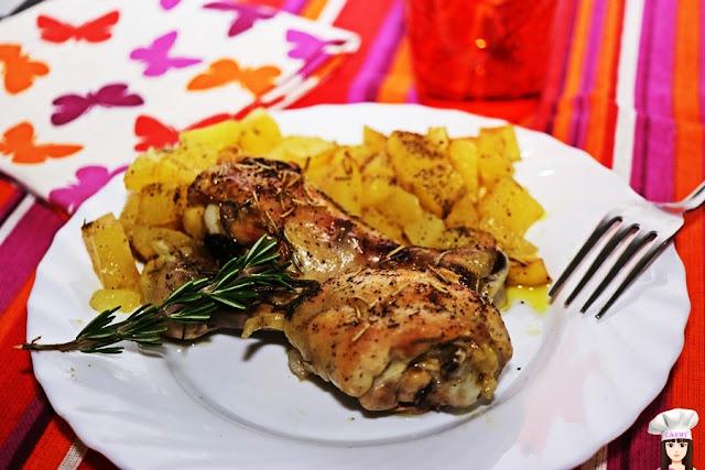 coscette di pollo e patate al forno