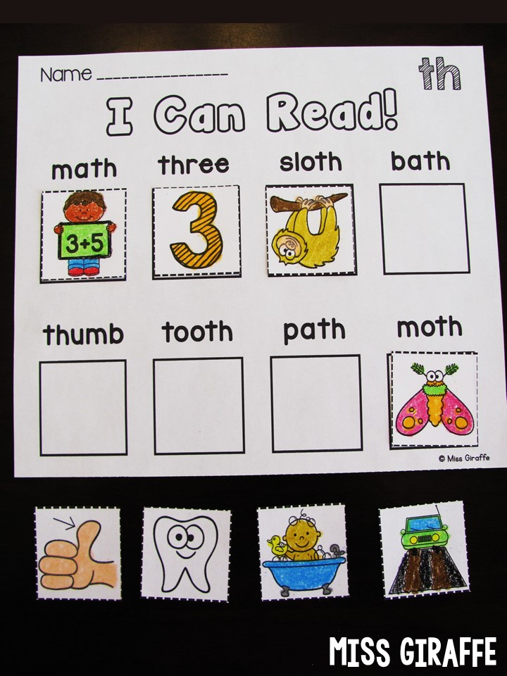 Miss Giraffes Class Digraphs Activities For First Grade And