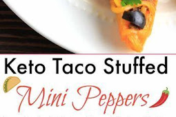 KETO TACO STUFFED MINI PEPPERS