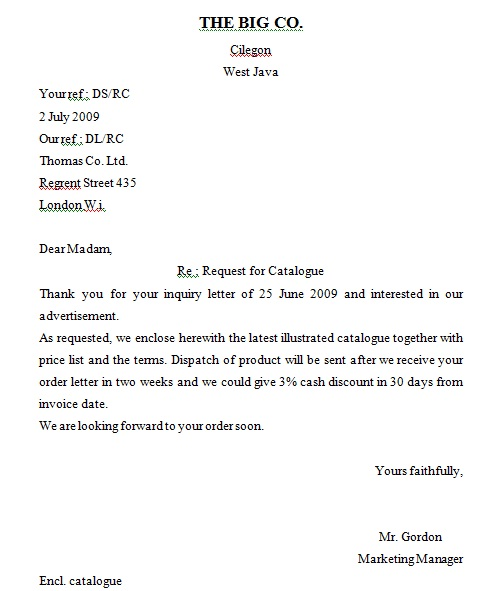 Myblog: Inquiry Letter
