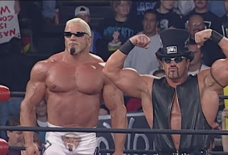 WCW World War 3 1998 - Scott Steiner & Buff Bagwell pose