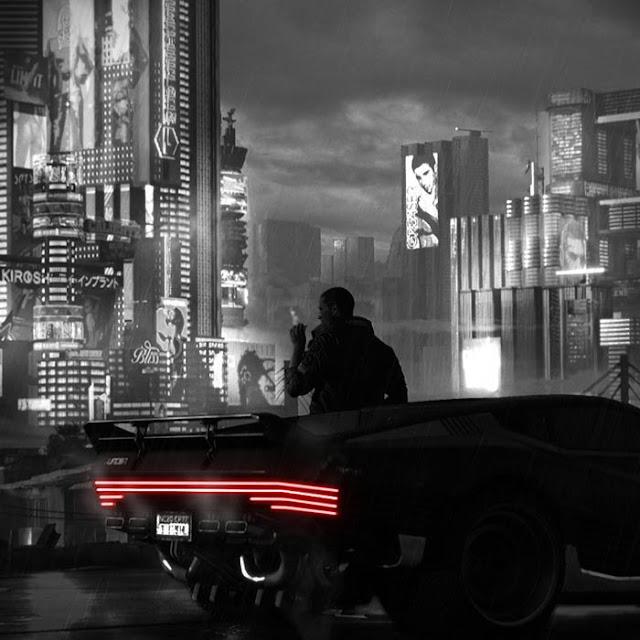 Noir Style Cyberpunk 2077 No Title Wallpaper Engine