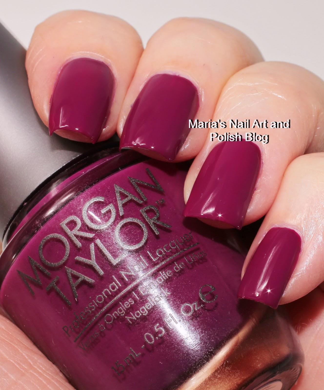 Marias nail art and polish blog morgan taylor berry perfection morgan taylor berry perfection and mint chocolate chip swatches prinsesfo Images