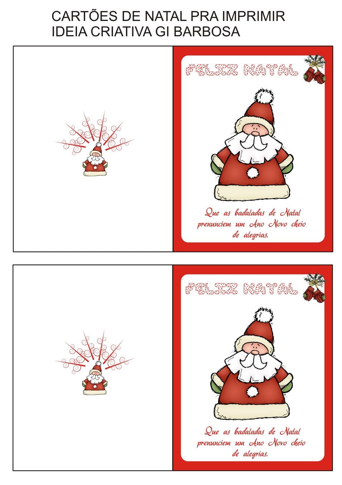 Cartão De Natal Imprimir Noel Ideia Criativa Educação Infantil