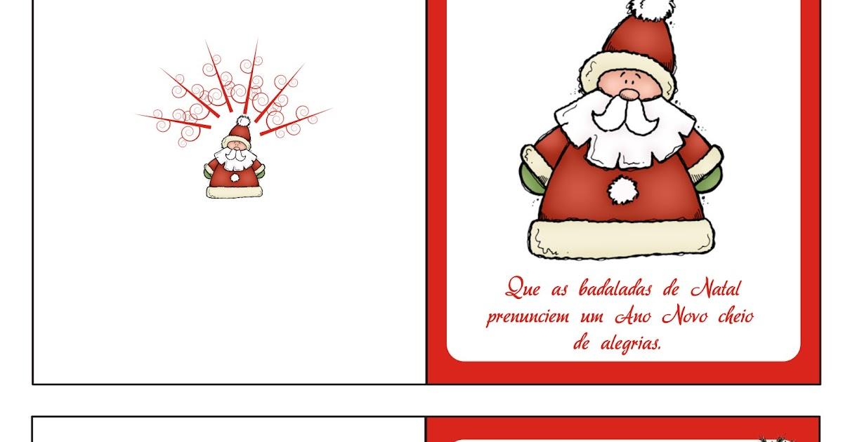 Cartao De Natal Imprimir Noel